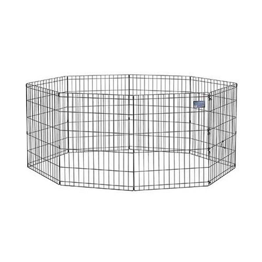 midwest pets 30-in x 24-in Black Metal Indoor/Outdoor Exercise Pen
