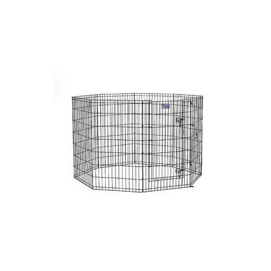 midwest pets 42-in x 24-in Black Metal Indoor/Outdoor Exercise Pen
