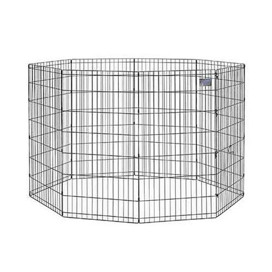 midwest pets 48-in x 24-in Black Metal Indoor/Outdoor Exercise Pen