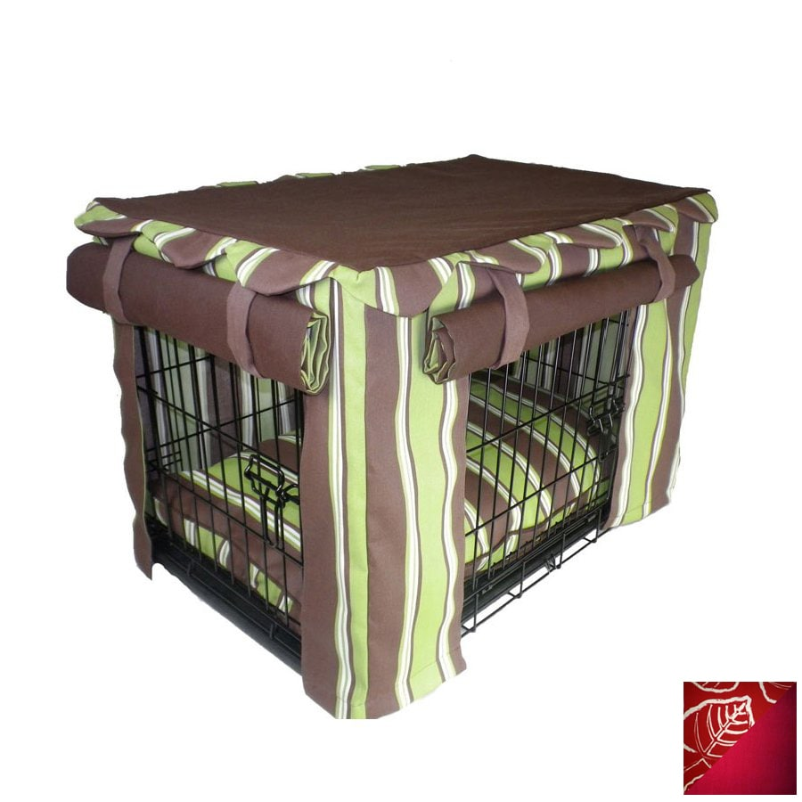 Snoozer Red Leaf Rectangular Dog Bed