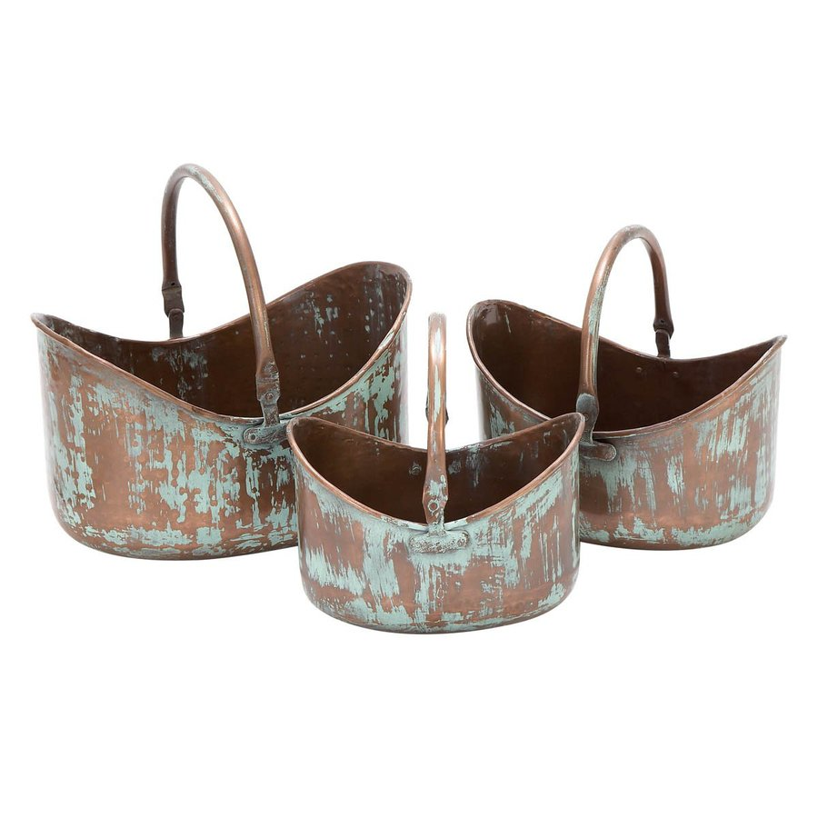 Woodland Imports x Copper Metal Basket