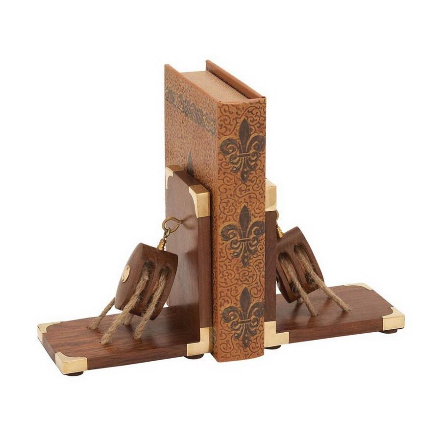 Woodland Imports Well Seasoned Quality Wood Bookend