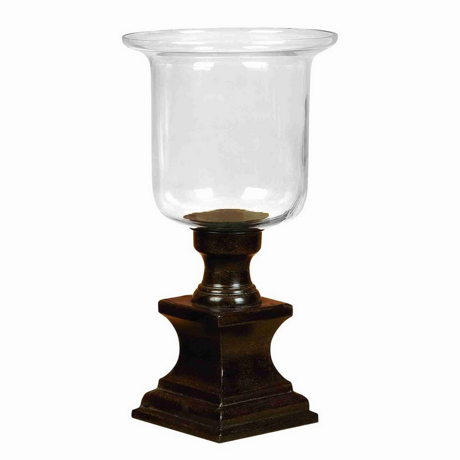 Woodland Imports Rust Free Metal Alloy and Glass Candle Holder