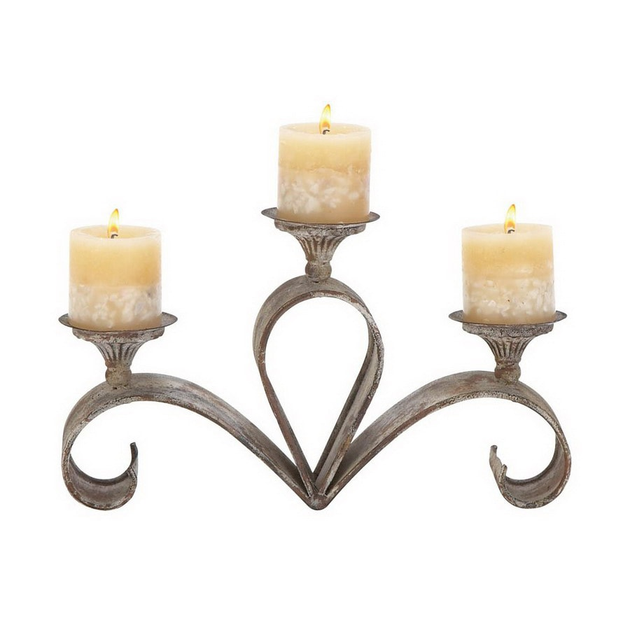 Woodland Imports Premium Grade Metal Alloy Candle Holder