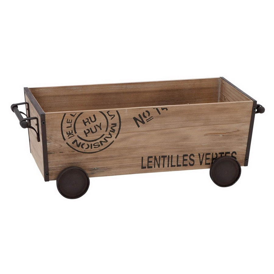 Woodland Imports Rectangular Wood and Metal Unique Home Accents Cart