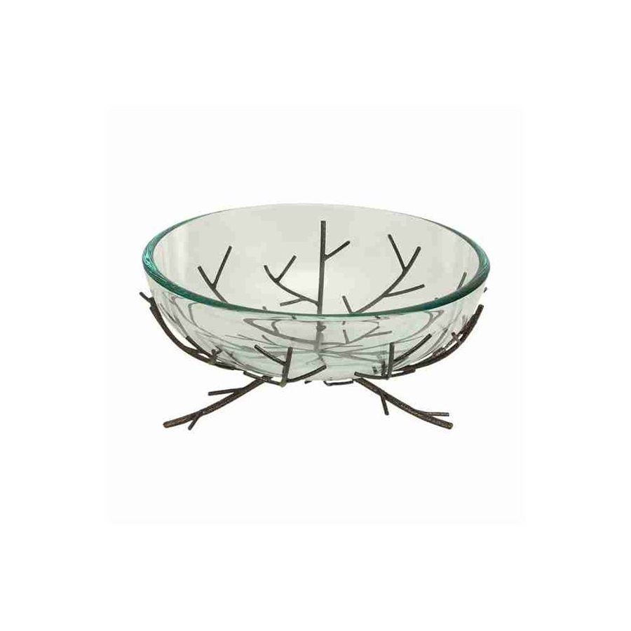 Woodland Imports Metal and Glass Bowl
