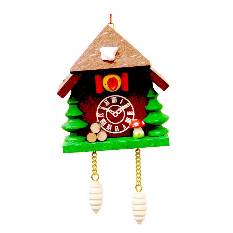 Alexander Taron Natural Wood Cuckoo Clock Ornament