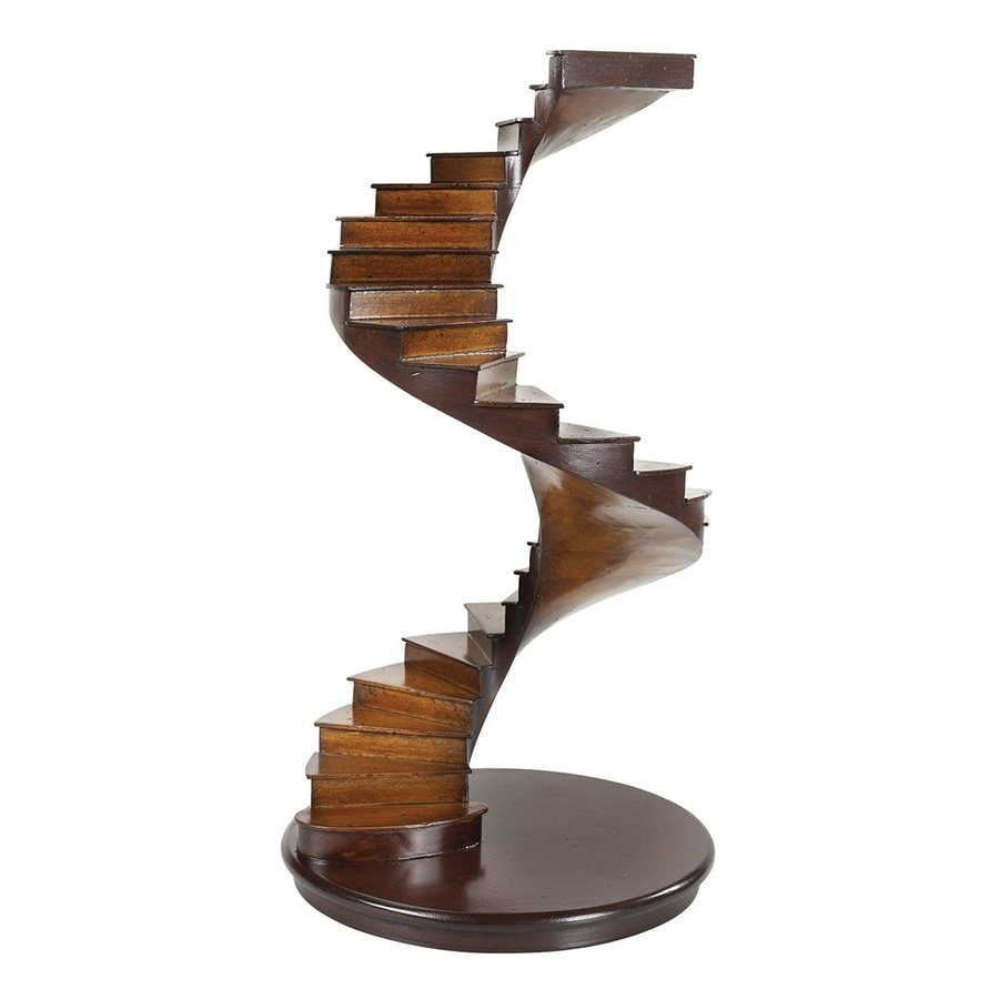 Authentic Models Wood Spiral Stairs Statue