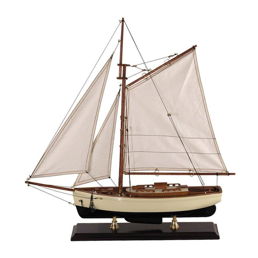 Authentic Models Wood and Cotton Statue930 Yacht