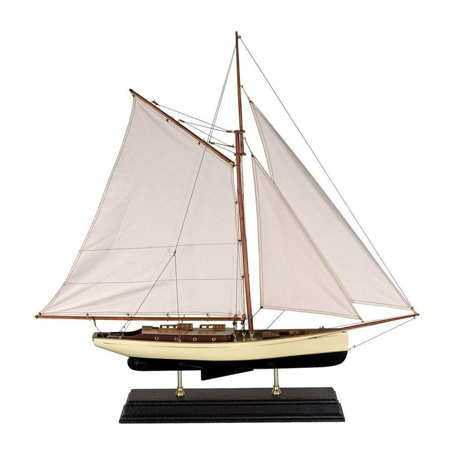 Authentic Models Wood and Cotton Yacht