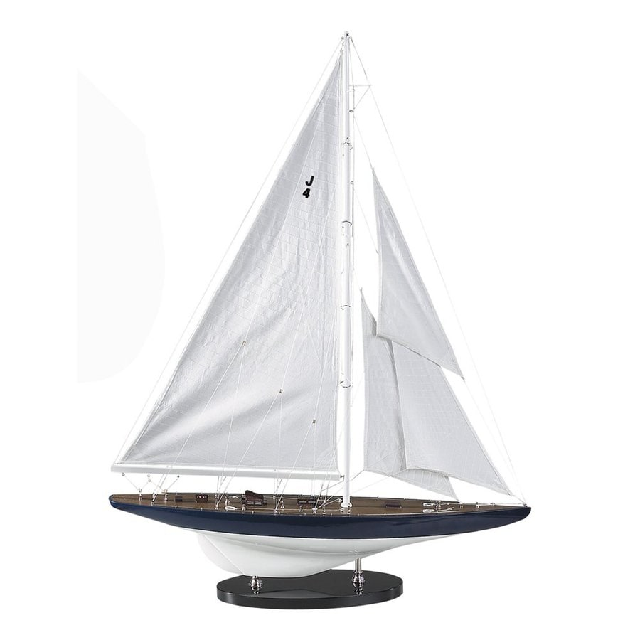 Authentic Models Wood and Cotton 1934 J-Yacht Rainbow Replica