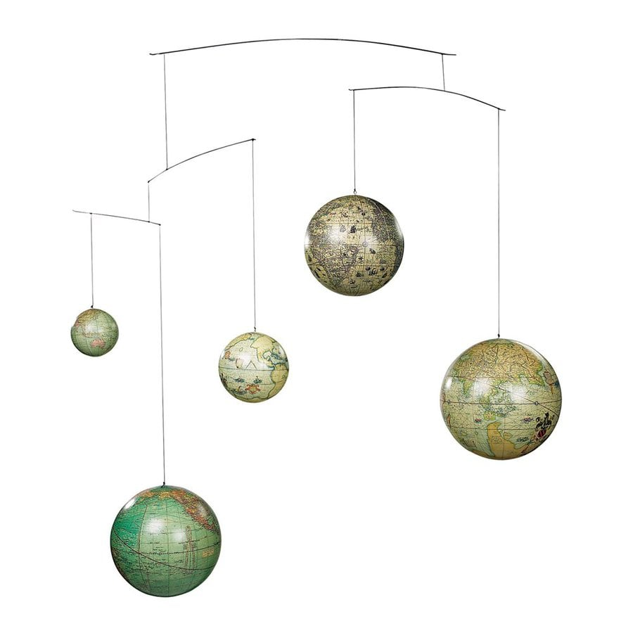 Authentic Models Paper and Plastic Globe Mobile