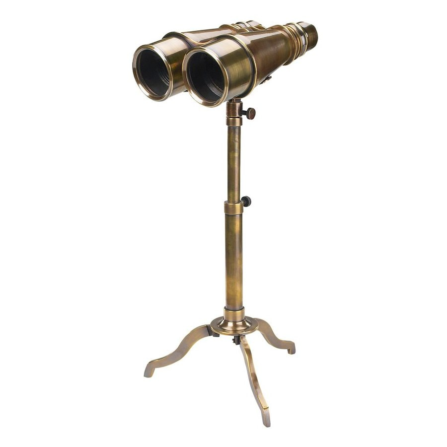 Authentic Models Bronze and Glass Victorian Binoculars Tabletop Decoration with Tripod