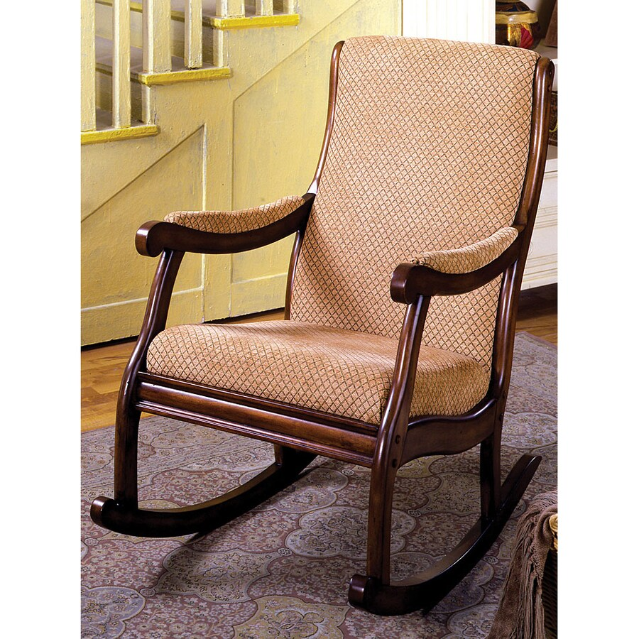 Furniture of America Liverpool Antique Oak Rocking Chair