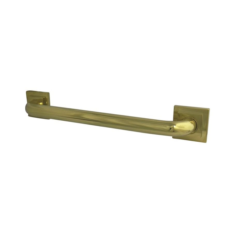 Elements of Design 16-in Polished Brass Wall Mount Grab Bar