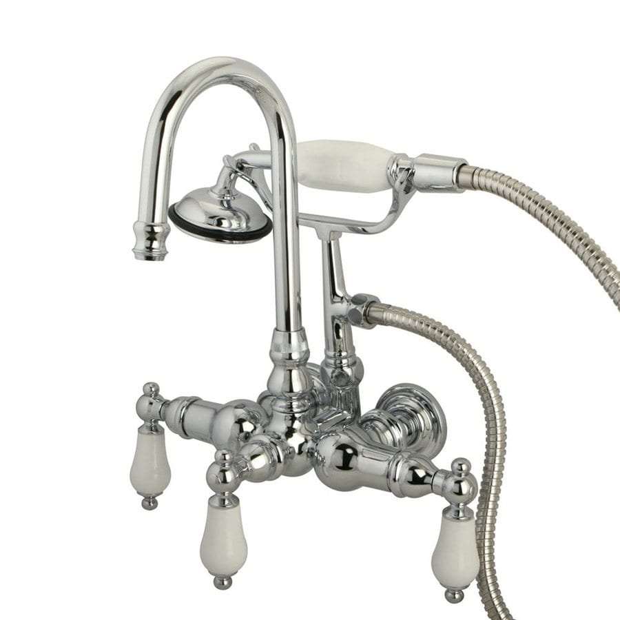Elements of Design Vintage Chrome 2-Handle Bathtub and Shower Faucet Trim Kit with Handheld Showerhead