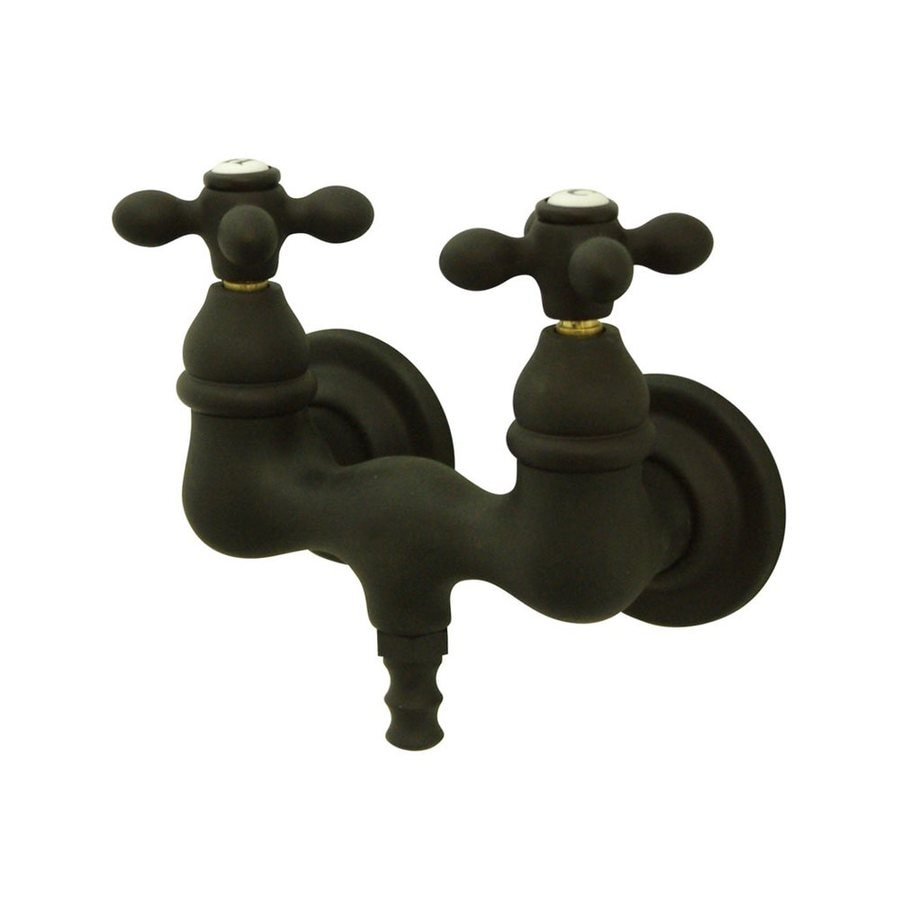 Elements of Design Vintage Oil Rubbed Bronze 2-Handle Freestanding/Wall Mount Bathtub Faucet