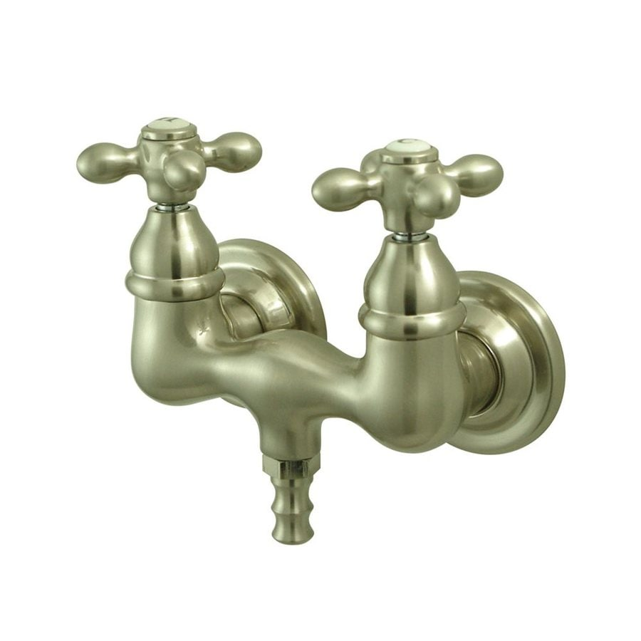 Shop Elements Of Design Vintage Satin Nickel 2 Handle Freestanding Wall Mount Bathtub Faucet At