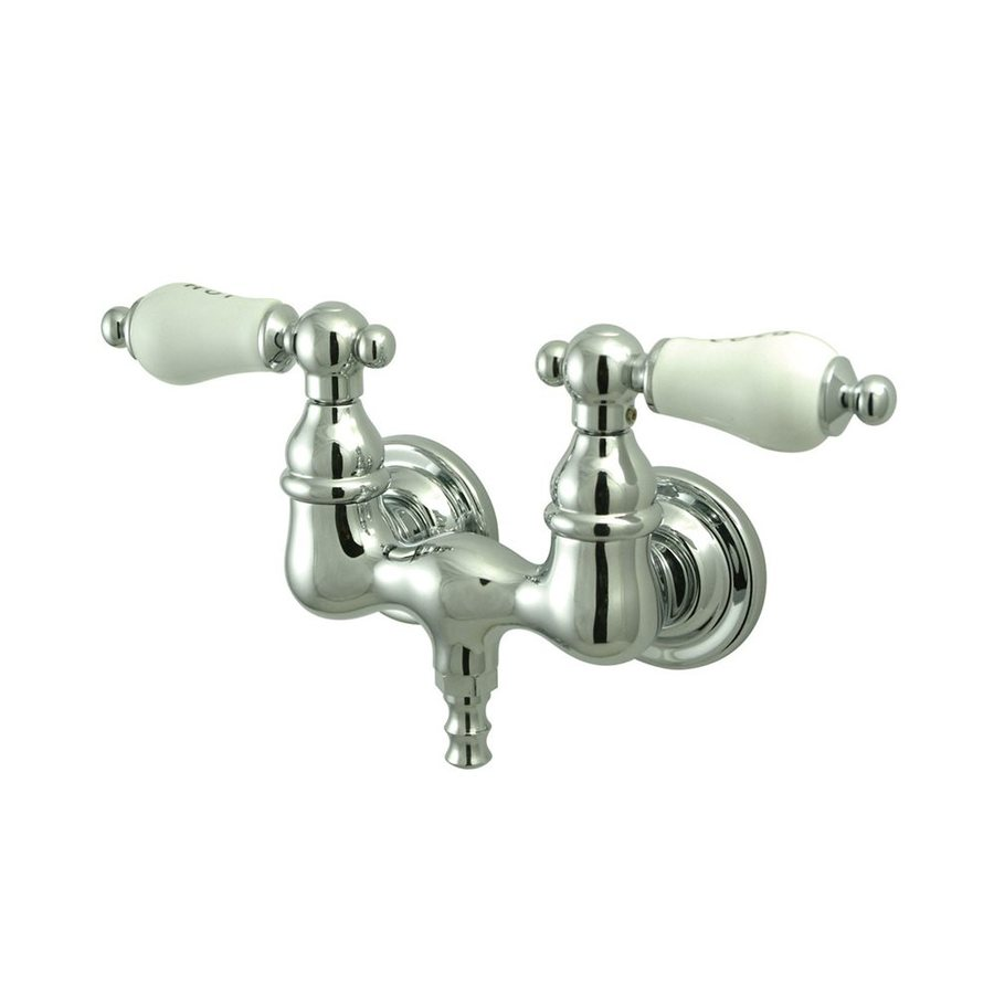 Elements of Design Vintage Chrome 2-Handle-Handle Fixed Clawfoot Tub Filler Bathtub Faucet