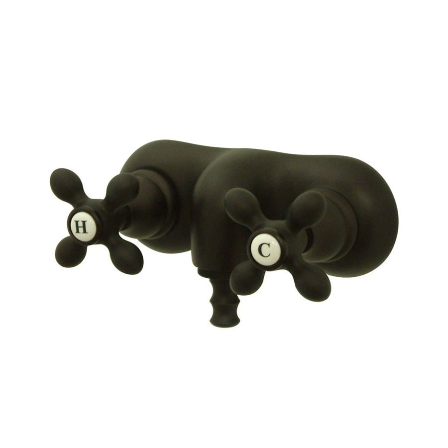 Elements of Design Hot Springs Oil-Rubbed Bronze 2-Handle-Handle Fixed Clawfoot Tub Filler Bathtub Faucet