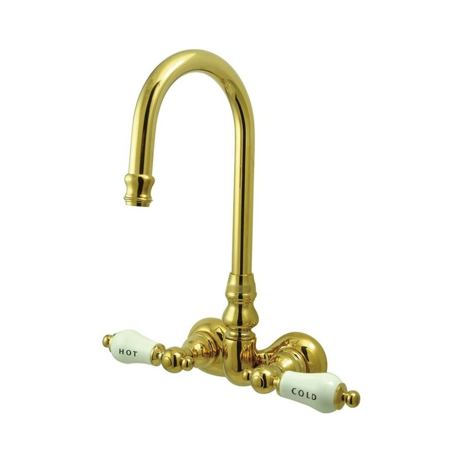 Shop Elements Of Design Hot Springs Polished Brass 2 Handle Freestanding Wall