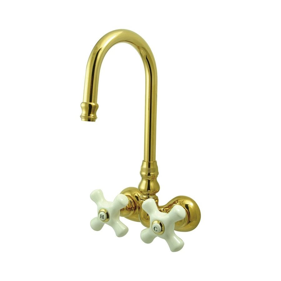 Elements of Design Hot Springs Polished Brass 2-Handle Fixed Wall Mount Bathtub Faucet