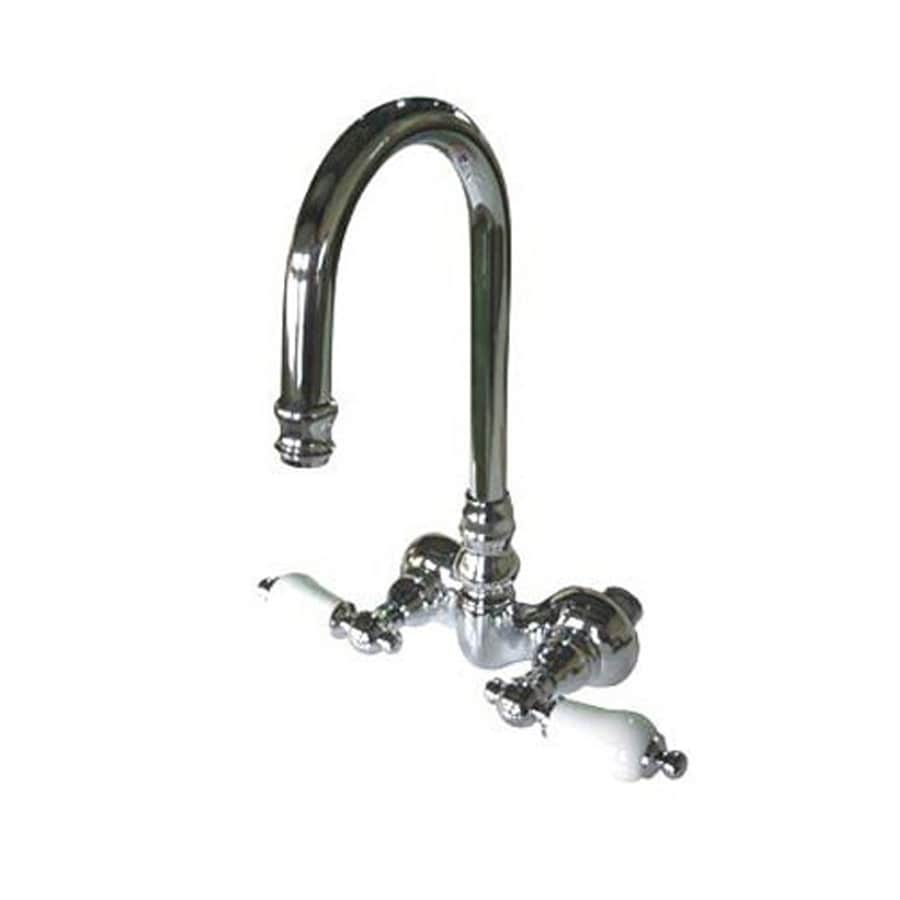 Elements of Design Hot Springs Chrome 2-Handle-Handle Fixed Clawfoot Tub Filler Bathtub Faucet