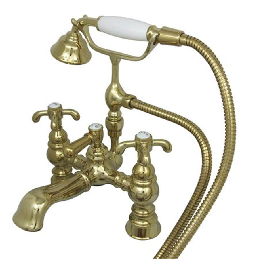Elements of Design Hot Springs Chrome 3-Handle Bathtub and Shower Faucet with Handheld Showerhead
