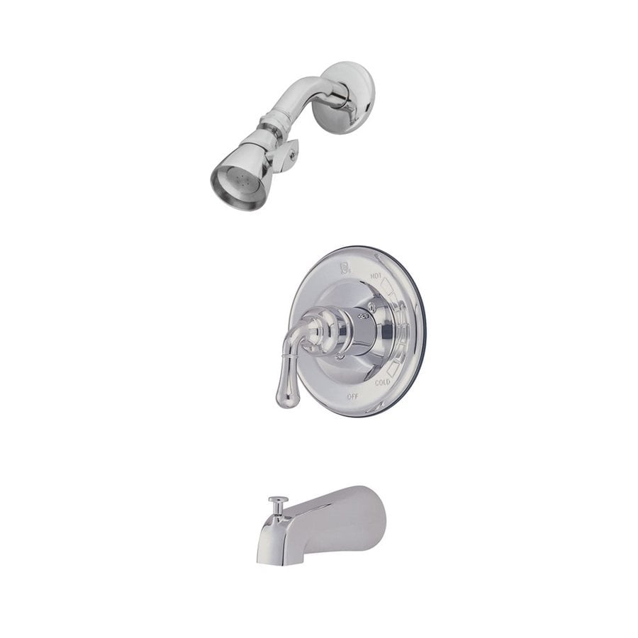 Elements of Design Magellan Chrome 1-Handle Bathtub and Shower Faucet with Single Function Showerhead