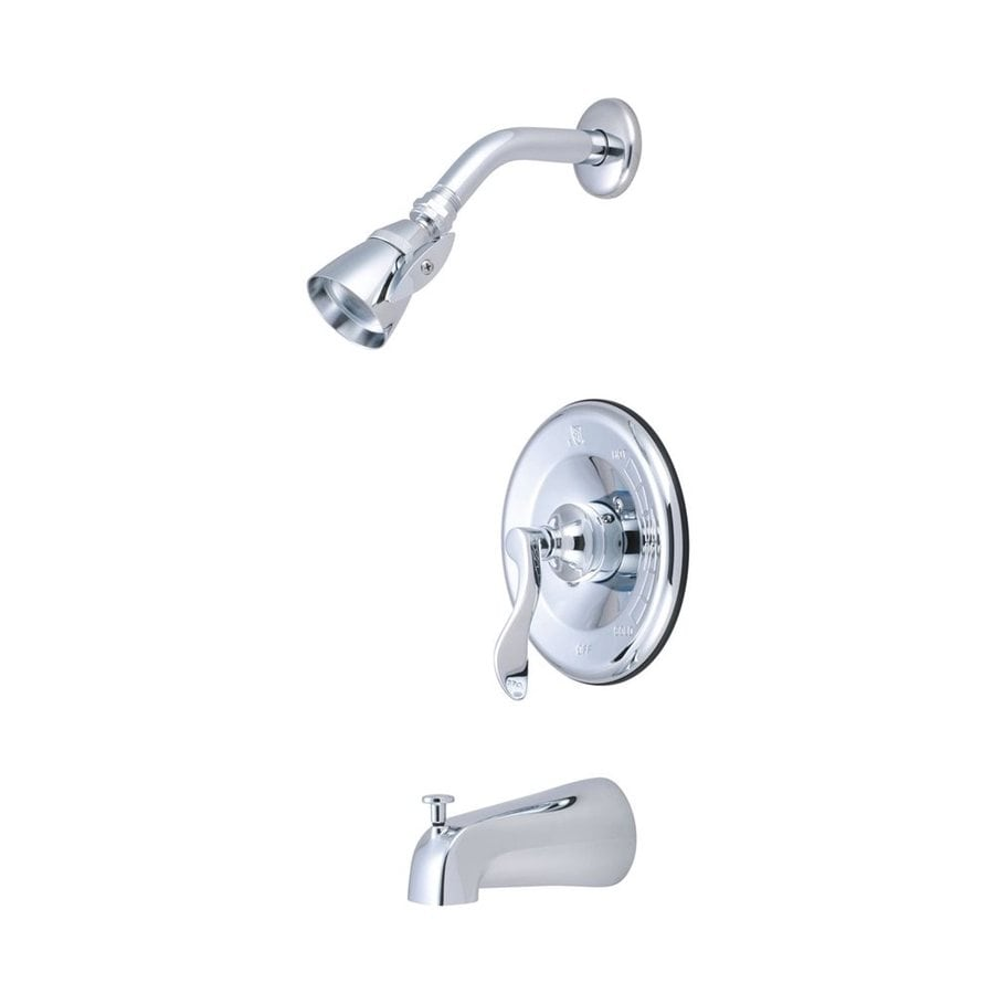 Elements of Design Century Chrome 1-Handle Bathtub and Shower Faucet Trim Kit with Single Function Showerhead