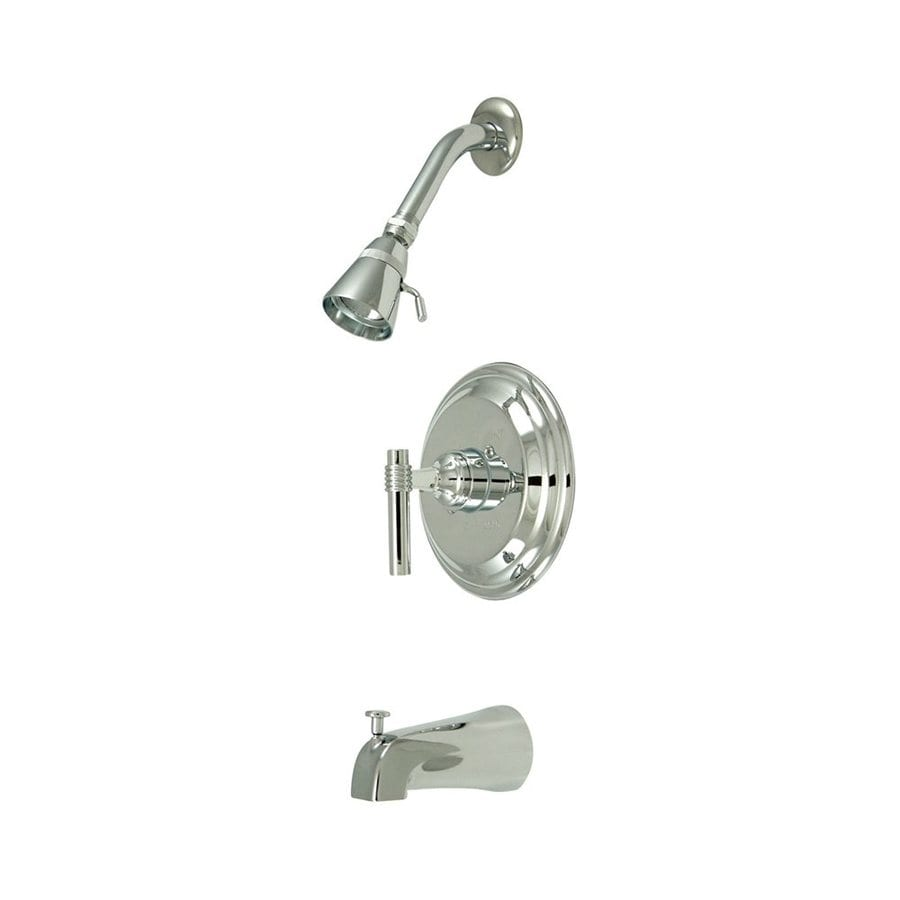 Elements of Design Milano Chrome 1-Handle Bathtub and Shower Faucet with Single Function Showerhead