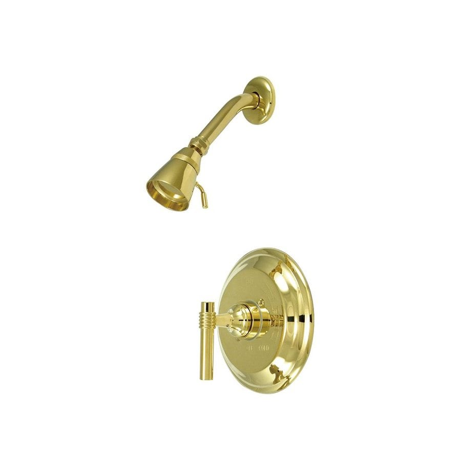 Elements of Design Milano Polished Brass 1-handle Shower Faucet with Valve