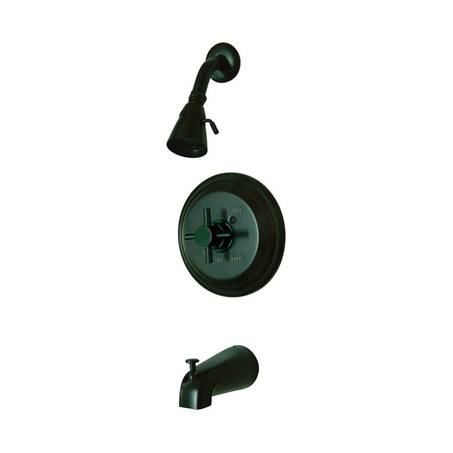 Elements of Design Concord Oil-Rubbed Bronze 1-Handle Bathtub and Shower Faucet with Single Function Showerhead