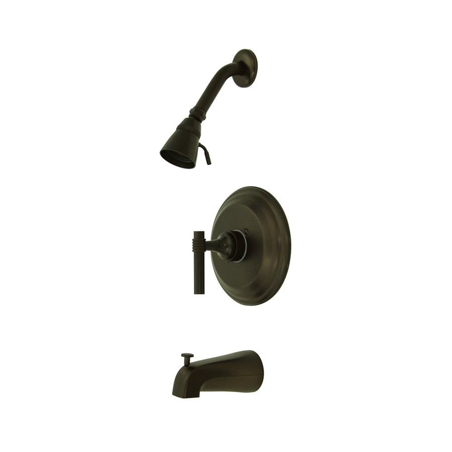 Elements of Design Milano Oil-Rubbed Bronze 1-Handle Bathtub and Shower Faucet with Single Function Showerhead