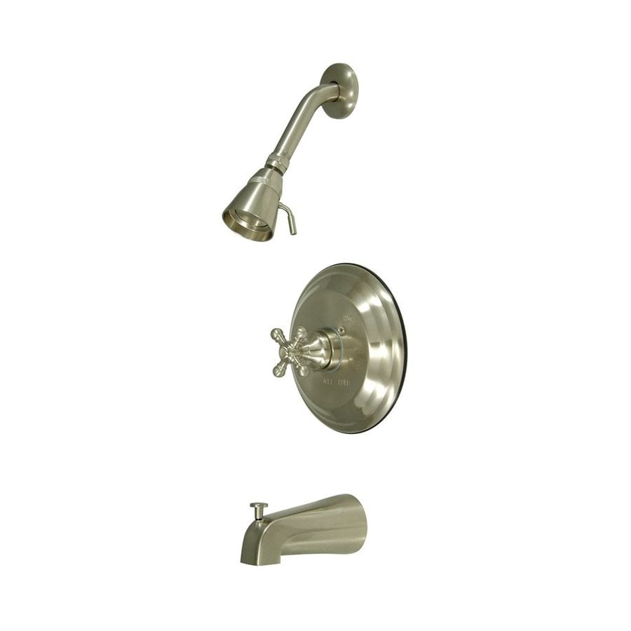 Elements of Design New York Satin Nickel 1-Handle Bathtub and Shower Faucet with Single Function Showerhead