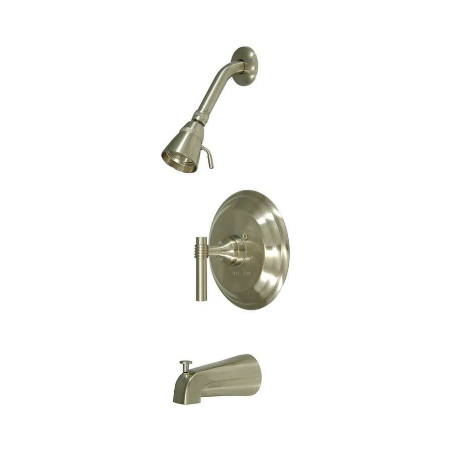 Elements of Design Milano Satin Nickel 1-Handle Bathtub and Shower Faucet with Single Function Showerhead
