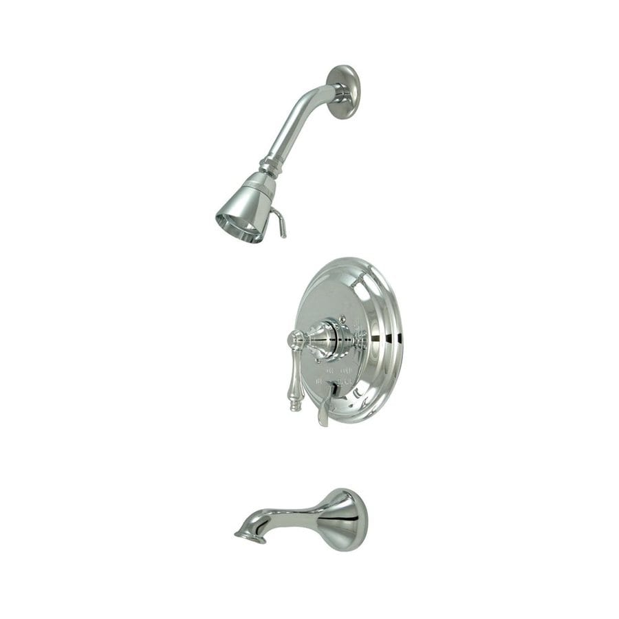 Elements of Design New Orleans Chrome 1-Handle Bathtub and Shower Faucet with Single Function Showerhead