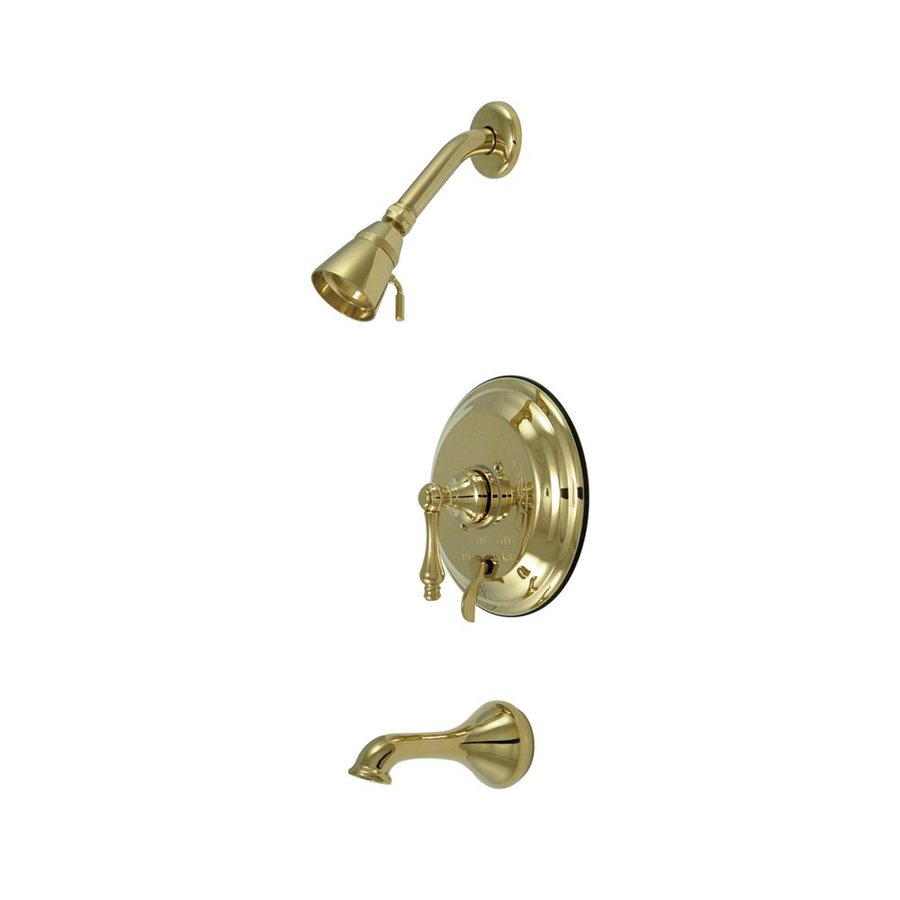 Elements of Design New Orleans Polished Brass 1-Handle Bathtub and Shower Faucet with Single Function Showerhead