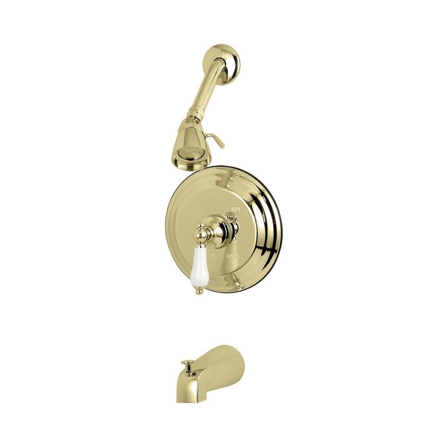 Elements of Design St Louis Polished Brass 1-Handle Bathtub and Shower Faucet with Valve