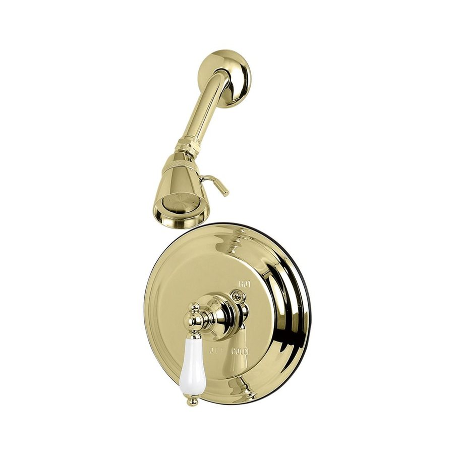 Elements of Design St. Louis 2.25-in 2.5-GPM (9.5-LPM) Polished Brass Showerhead