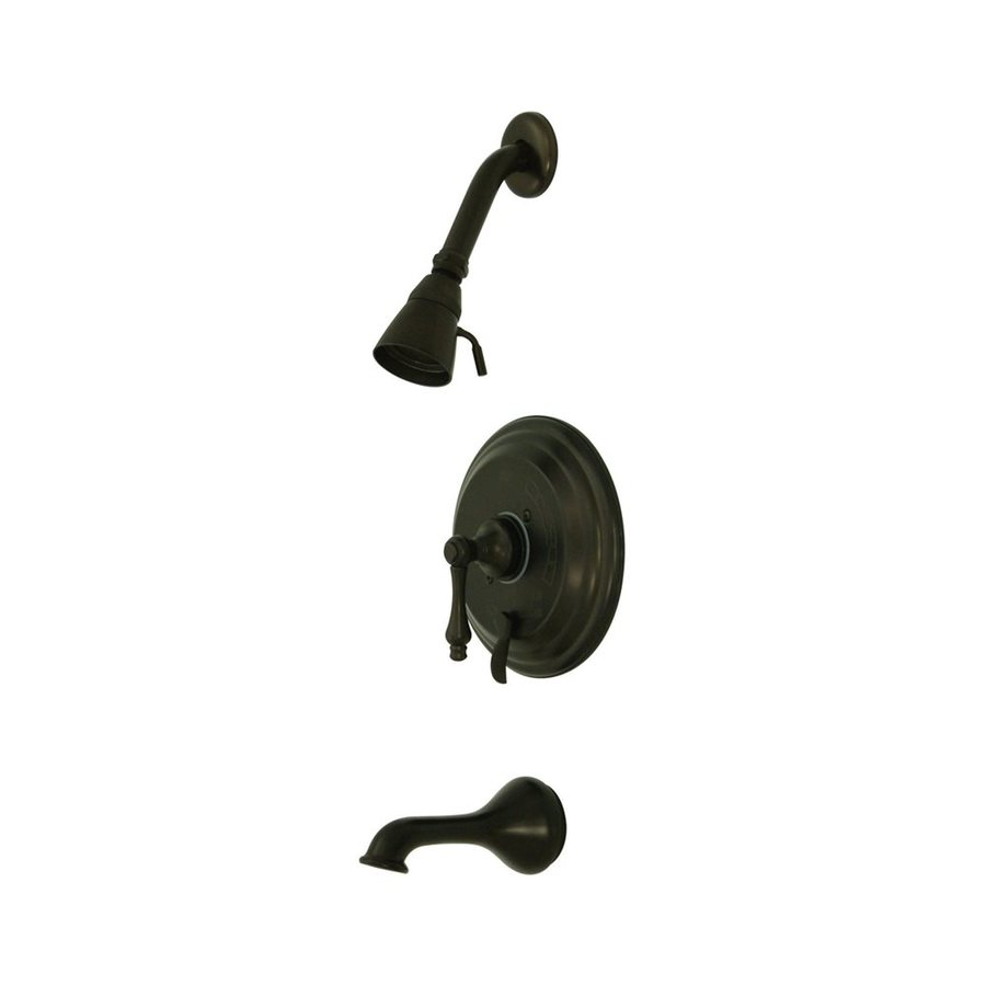 Elements of Design New Orleans Oil-Rubbed Bronze 1-Handle Tub and Shower with Single Function Showerhead