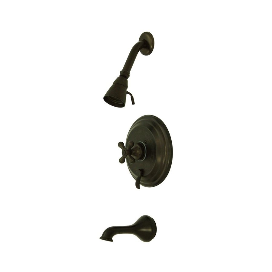 Elements of Design New Orleans Oil-Rubbed Bronze 1-Handle Bathtub and Shower Faucet with Single Function Showerhead