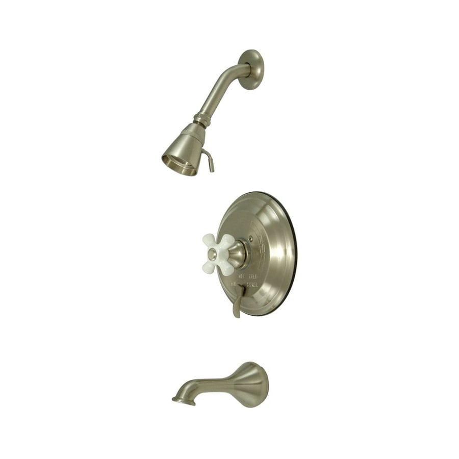 Elements of Design New Orleans Satin Nickel 1-Handle Bathtub and Shower Faucet with Valve