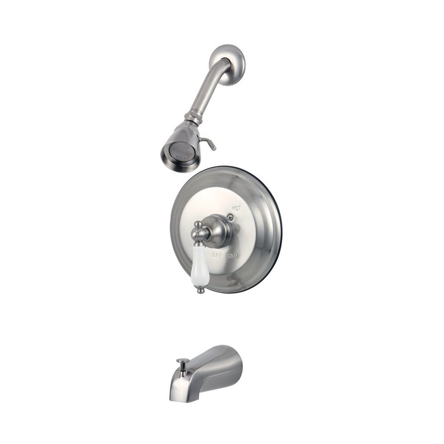 Elements of Design St Louis Satin Nickel 1-Handle Bathtub and Shower Faucet with Single Function Showerhead