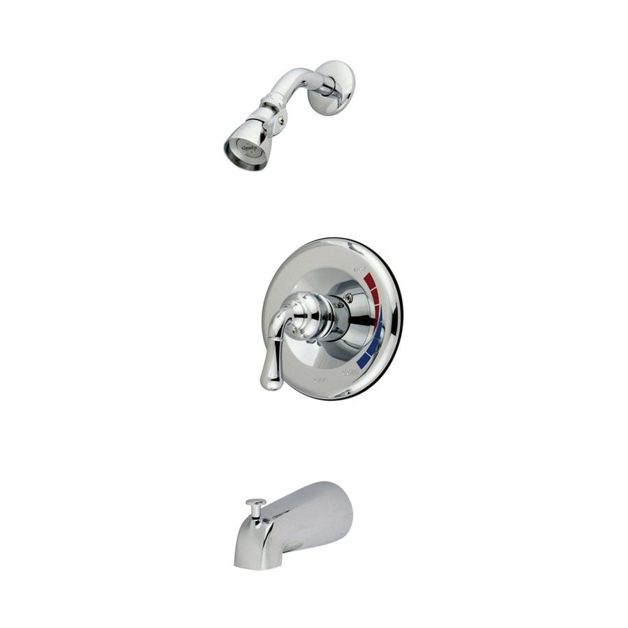 Elements of Design St. Charles Chrome 1-Handle Bathtub and Shower Faucet with Single Function Showerhead