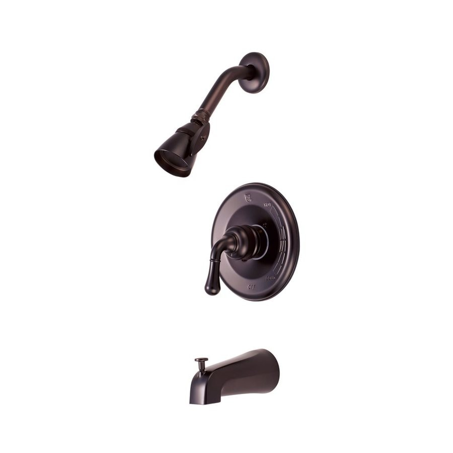 Elements of Design Magellan Oil-Rubbed Bronze 1-Handle Bathtub and Shower Faucet with Single Function Showerhead