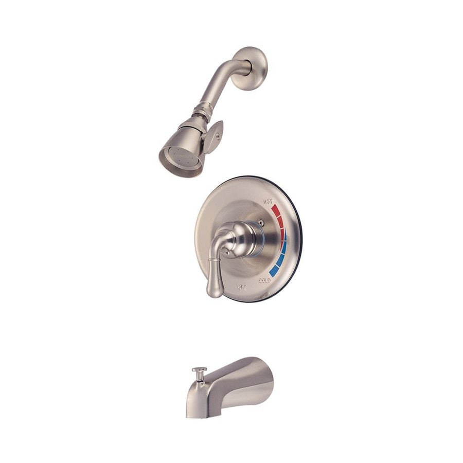 Elements of Design Magellan Satin Nickel 1-Handle Bathtub and Shower Faucet with Valve