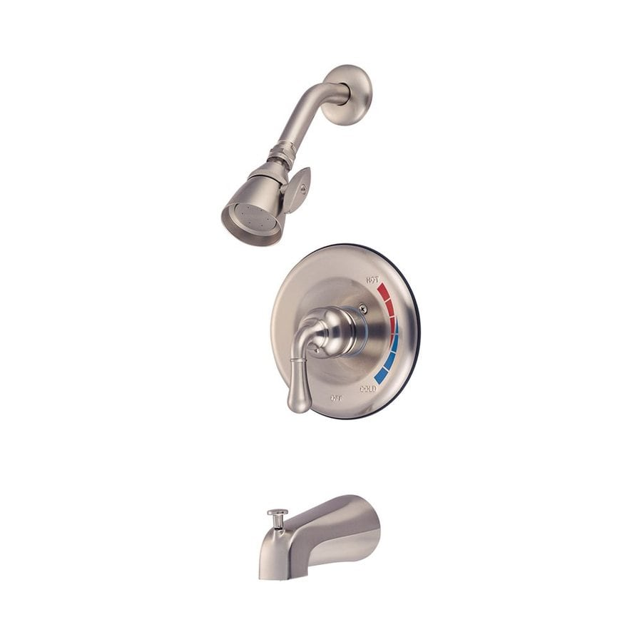 Elements of Design St. Charles Satin Nickel 1-Handle Bathtub and Shower Faucet Trim Kit with Single Function Showerhead
