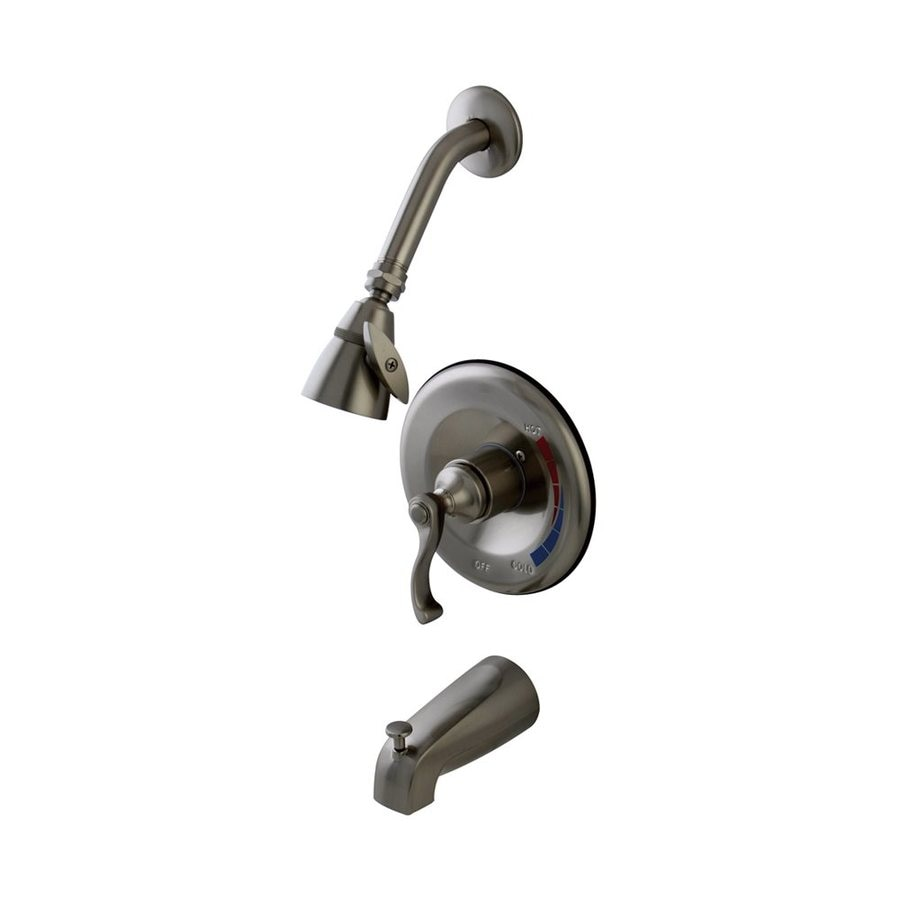 Elements of Design Satin Nickel 1-Handle Bathtub and Shower Faucet Trim Kit with Single Function Showerhead