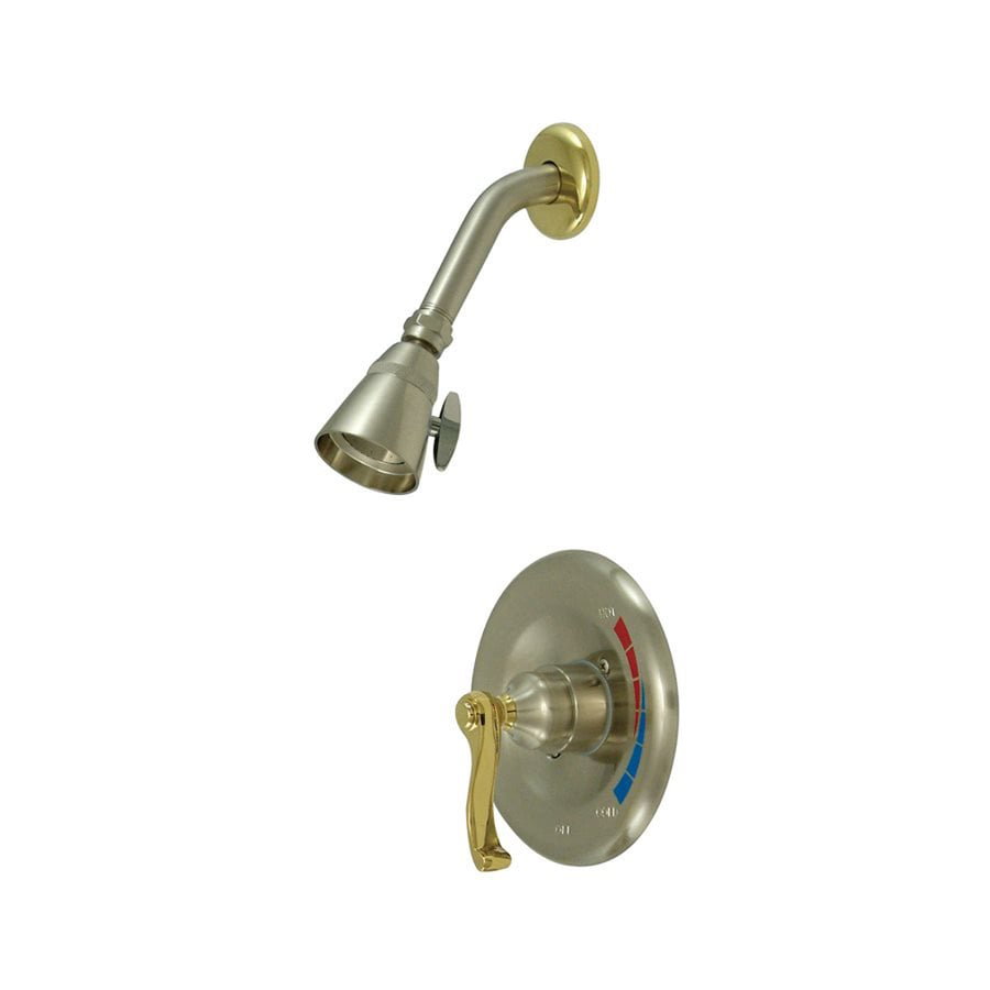Elements of Design Royale Polished Brass/Satin Nickel 1-handle Shower Faucet with Valve